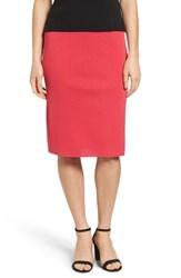 Ming Wang Women's Straight Skirt Cherry