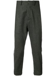 Casey Casey Cropped Trousers Polyamide Virgin Wool Water Grey
