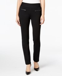 Alfani Zip Pocket Pull On Pants Only At Macy's Deep Black