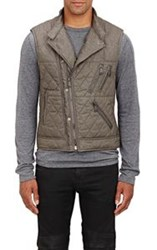 Ralph Lauren Black Label Quilted Tech Vest Grey