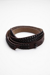 B Low The Belt Studded Leather Tie Belt
