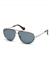 Balenciaga Metal Aviator Sunglasses Blue