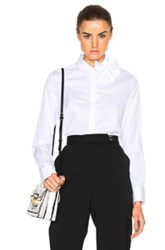 Victoria Victoria Beckham Single Bow Top In White