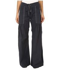 Xcvi Willow Wide Leg Stretch Poplin Pants Charcoal Women's Casual Pants Gray