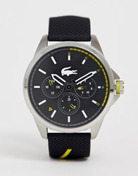 Lacoste Capbreton Silicone Watch In Black