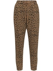 Nili Lotan Leopard Print Cropped Trousers Multicolour