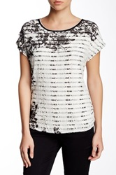 Vanilla Sugar Secret Garden Lace Overlay Tee Black