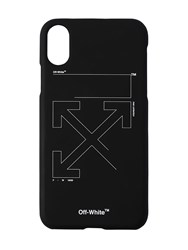 Off White Unfinished Print Tech Iphone X Cover Black
