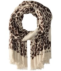 Marc Jacobs Leopard Stole Multi Scarves