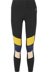P.E Nation The Iron Tyson Color Block Stretch Leggings Black