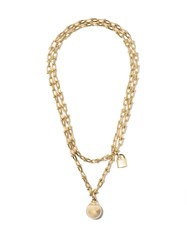 Tiffany And Co. Co 18Kt Yellow Gold City Hardwear Wrap Necklace Metallic