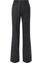 Balenciaga Pinstriped Wool And Cashmere Blend Pants Navy