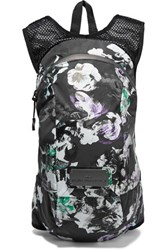 Adidas By Stella Mccartney Floral Print Shell And Mesh Backpack Black