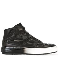 Alejandro Ingelmo Panelled Hi Tops Calf Leather Leather Rubber Black