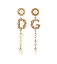 Dolce And Gabbana Clip On Drop Earrings Gold