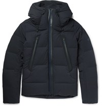 Descente Decente Mizuawa Quilted Hell Down Coat Navy