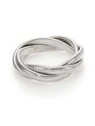 Kenneth Jay Lane Small Snake Chain Bracelet Silvertone