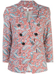 Veronica Beard Double Buttoned Blazer Multicolour