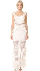 Three Floor Bouquet Lace Dress Off White