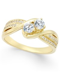 Macy's Diamond Two Stone Engagement Ring 1 2 Ct. T.W. In 14K Gold Or 14K White Gold