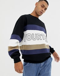 Your Turn Yourturn Colour Block Sweatshirt With Logo Multi