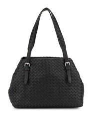 Bottega Veneta Intrecciato Leather Tote Bag Black
