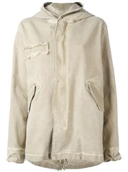 Mr And Mrs Italy Classic Mid Parka Neutrals