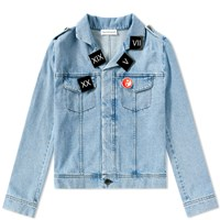 Gosha Rubchinskiy Short Denim Jacket Blue