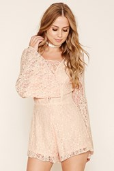 Forever 21 Floral Lace Romper