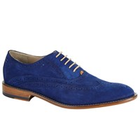 Oliver Sweeney London Fellbeck Leather Lace Up Brogues Blue