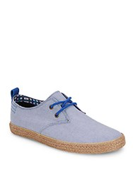 Ben Sherman Textured Lace Up Sneakers Blue Chambray