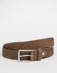 Selected Leather Belt Brown