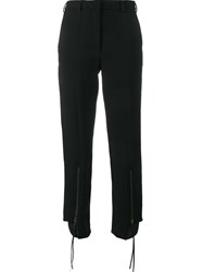 Y Project Zip Ankle Trousers Black
