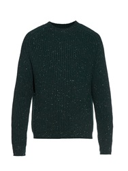 Raey Chunky Ribbed Knit Donegal Wool Sweater