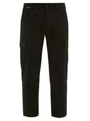 Dolce And Gabbana Cotton Blend Cargo Trousers Black