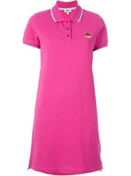 Kenzo 'Tiger' Polo Dress Pink And Purple