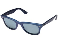 Ray Ban Rb2140 Iridescent Colored Wayfarer 50Mm Mercury Metallic Azure Green Mirror Silver Fashion Sunglasses Blue