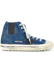 Golden Goose Deluxe Brand 'V Star 1' Denim Hi Top Sneakers Blue