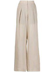Le Kasha Sohag High Waisted Trousers Neutrals