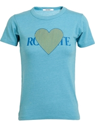 Rodarte Heart Motif T Shirt Blue