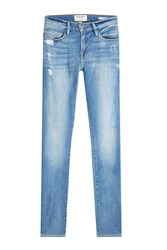 Frame Denim Slim Straight Leg Jeans With Distressed Detail