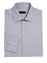 Ike By Ike Behar Regular Fit Checked Dress Shirt Grey
