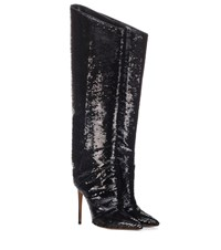 Alexandre Vauthier Alex Sequinned Boots Black