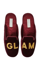 Patricia Green Women's Glam Embroidered Slipper Burgundy