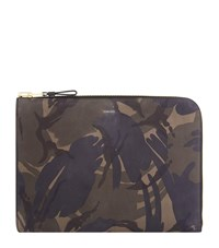 Tom Ford Leather Camouflage Printed Portfolio Brown