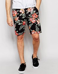 Denim And Supply Ralph Lauren Chino Shorts With Floral Print Black