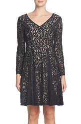 Cynthia Steffe Women's Claire Lace Fit And Flare Dress