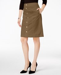 Charter Club Button Front Corduroy Skirt Only At Macy's Salty Nut