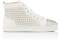 Christian Louboutin Louis Flat Leather Sneakers White