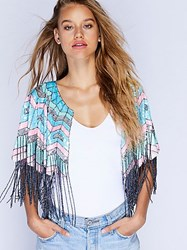 Tanja Pignatelli For Fp Party All Night Sequin Cape By At Free People